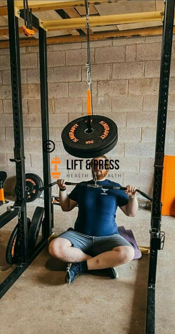 Customer picture of lift & Press home gym cable pulley system